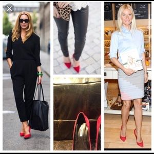Celebrity fav Kathryn Amberleigh red suede pumps 6